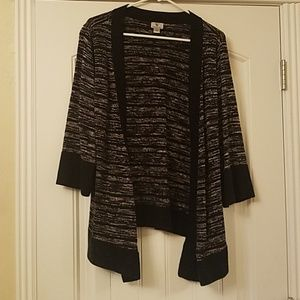 Cardigan with flared sleeves